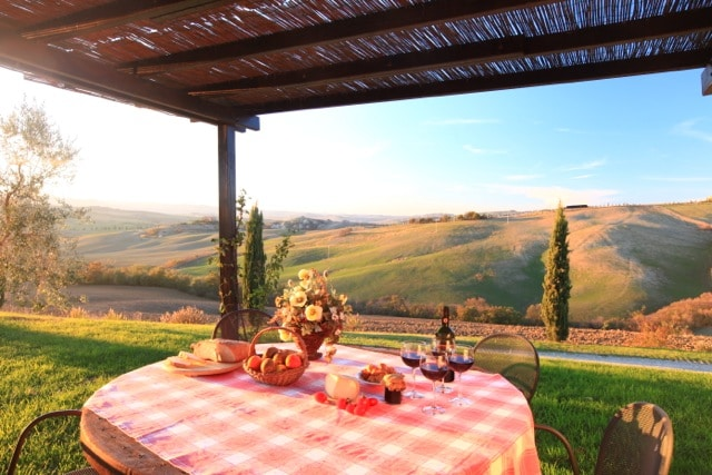 On a hill in Val d' Orcia