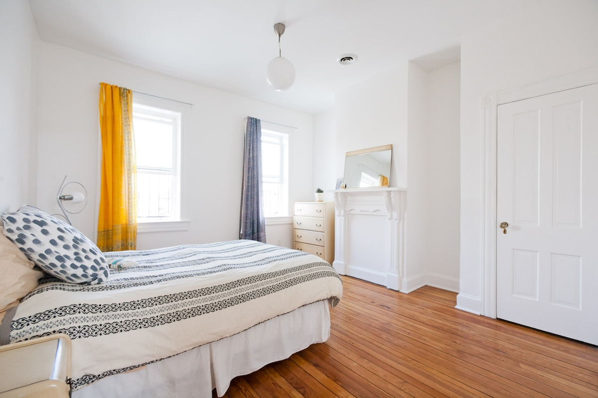 Your sunny, quiet guest room feaures a down blanket in the winter and central air in the summer.