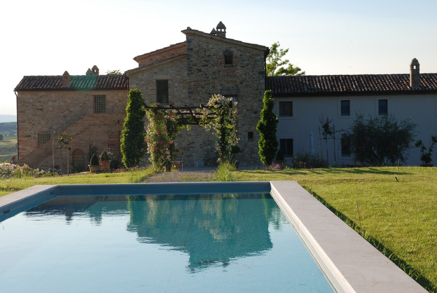 Casarciccia and the swimming pool