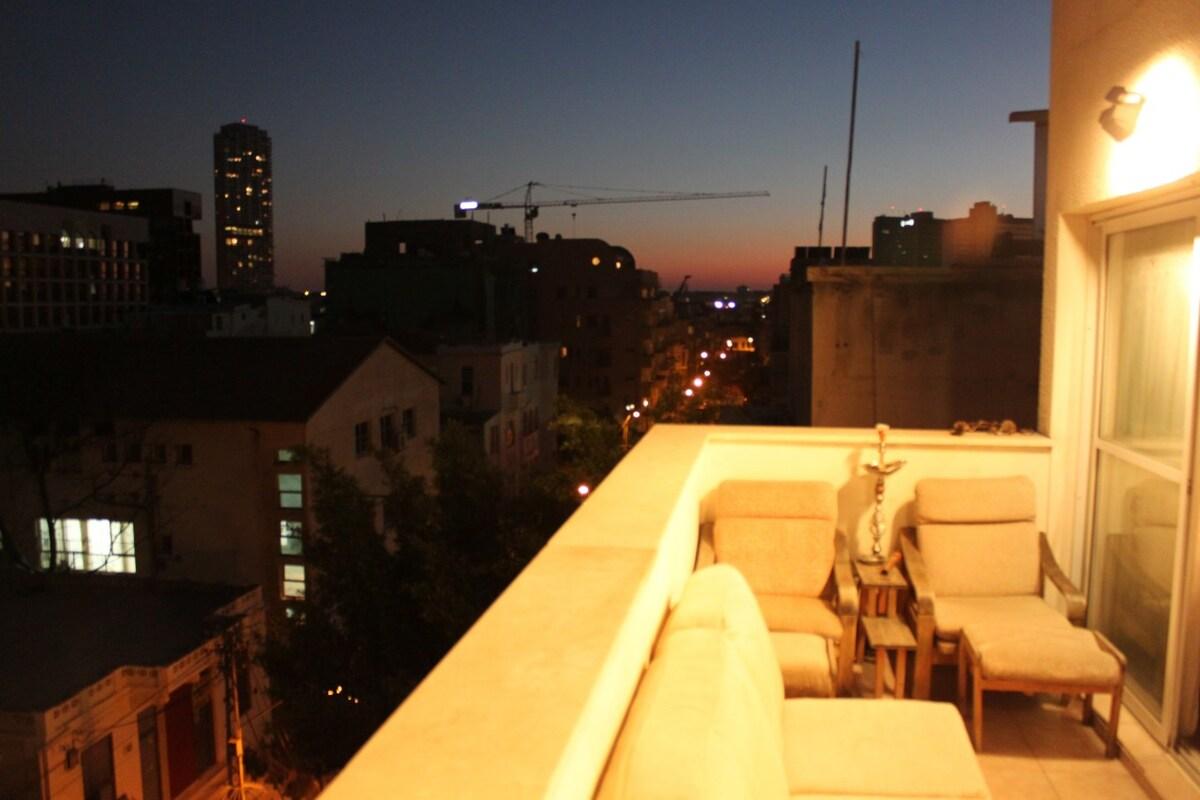 front balcony at night