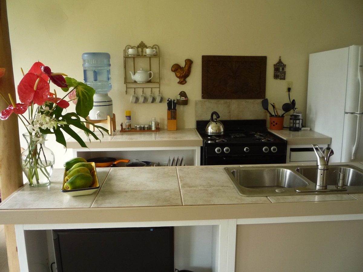 Fully equipted (website hidden) under counter faces to living room.