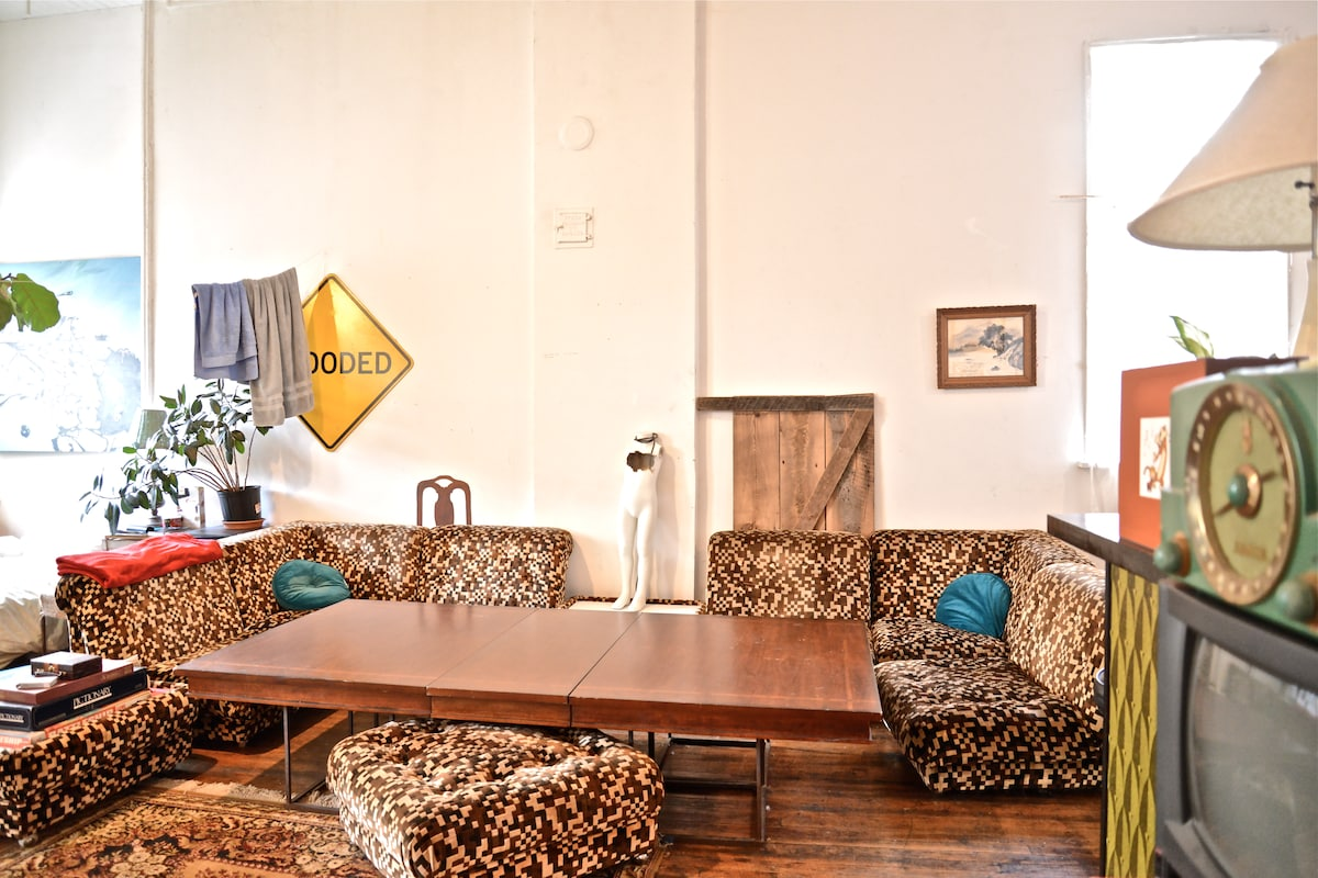 Digital leopard couch and game/dining table