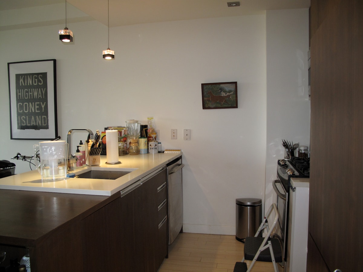 Gourmet kitchen with new appliances. Large dining table (not pictured.)