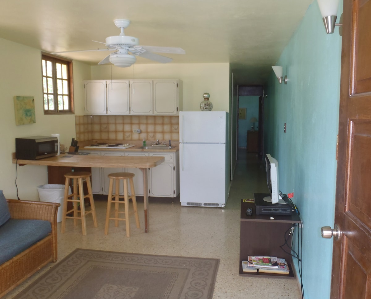 Prepare a meal in the fully equipped kitchen or walk to the Luquillo Kiosks for a fun cultural dining experience.