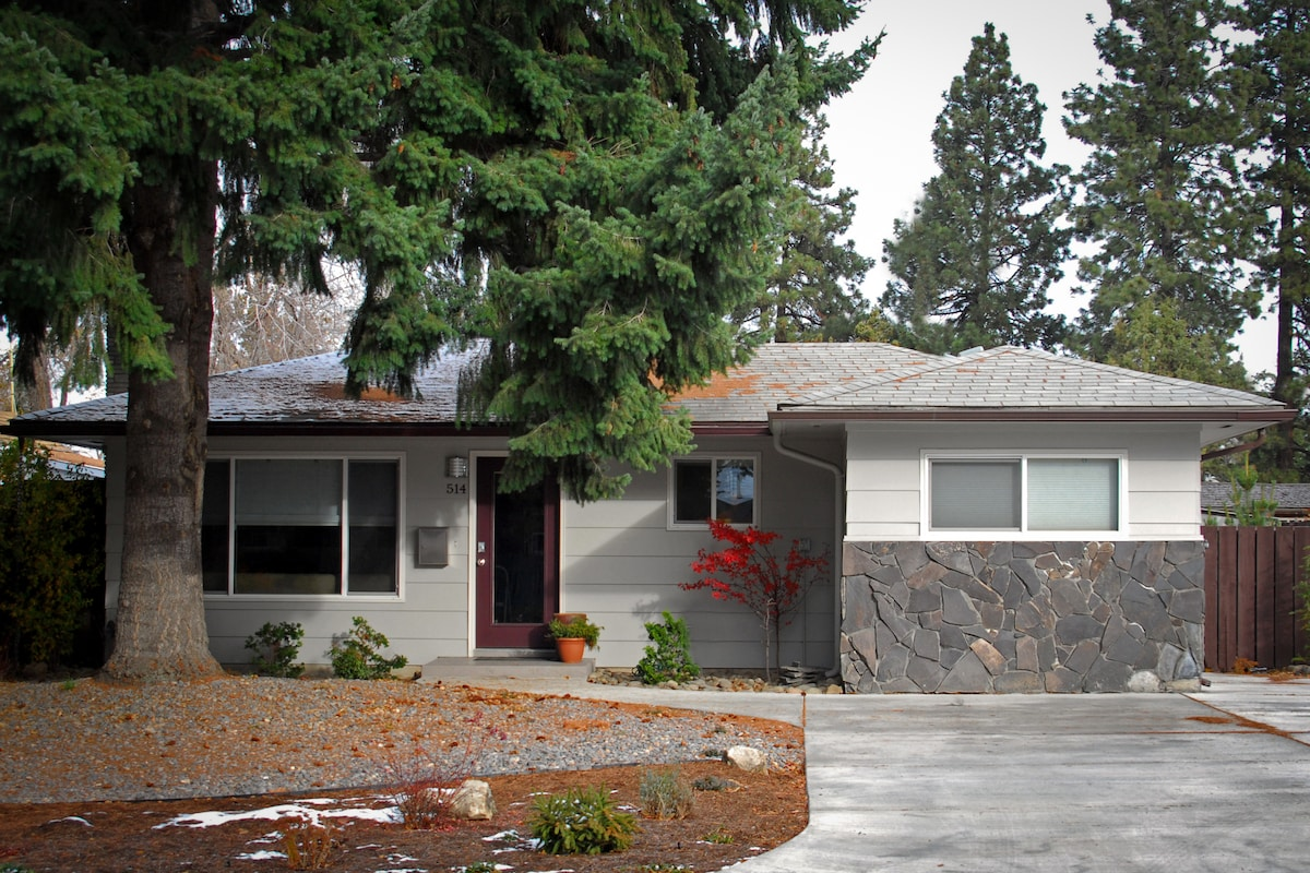 A 30 foot spruce, waterwise landscaping, large driveway and key less entry greet you on arrival.