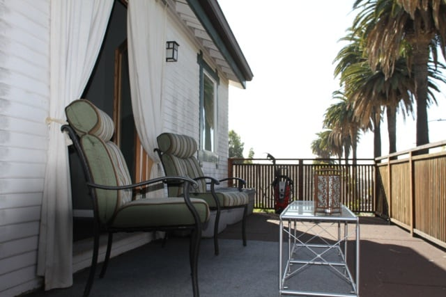 Private balcony facing west.   Afternoon ocean breezes, views of Hollywood, and Century City.