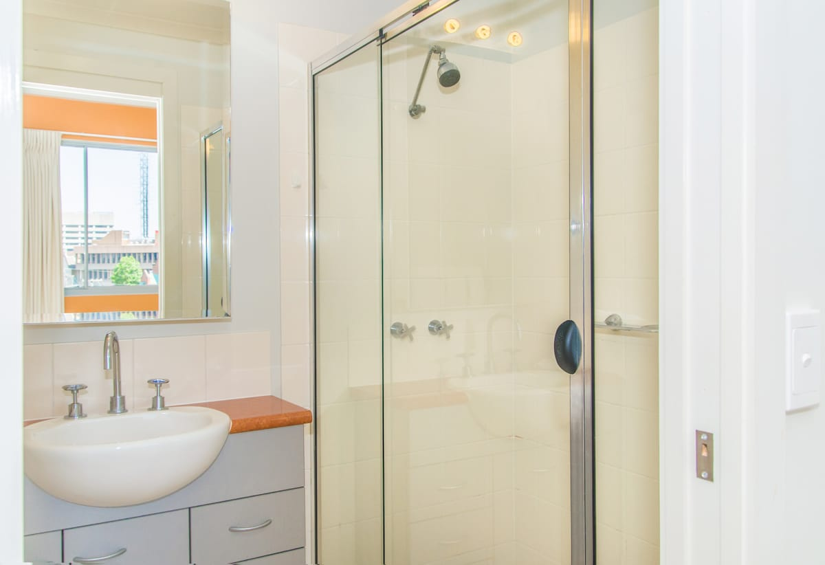 Ensuite off main bedroom with a walk-in shower