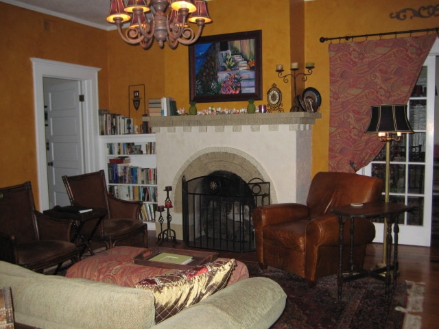 Warm up by the fire on cold nights. Enjoy a glass of wine. Relax and read a good book.