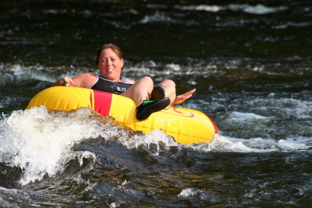 River tubing on Fish Creek in Central NY is just steps from the cabin