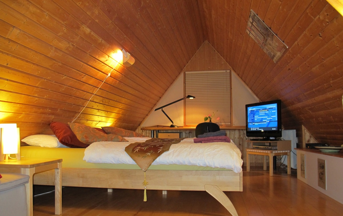 The BB-House - Double room with space for two extra beds. Free WiFi and free coffee/tea.