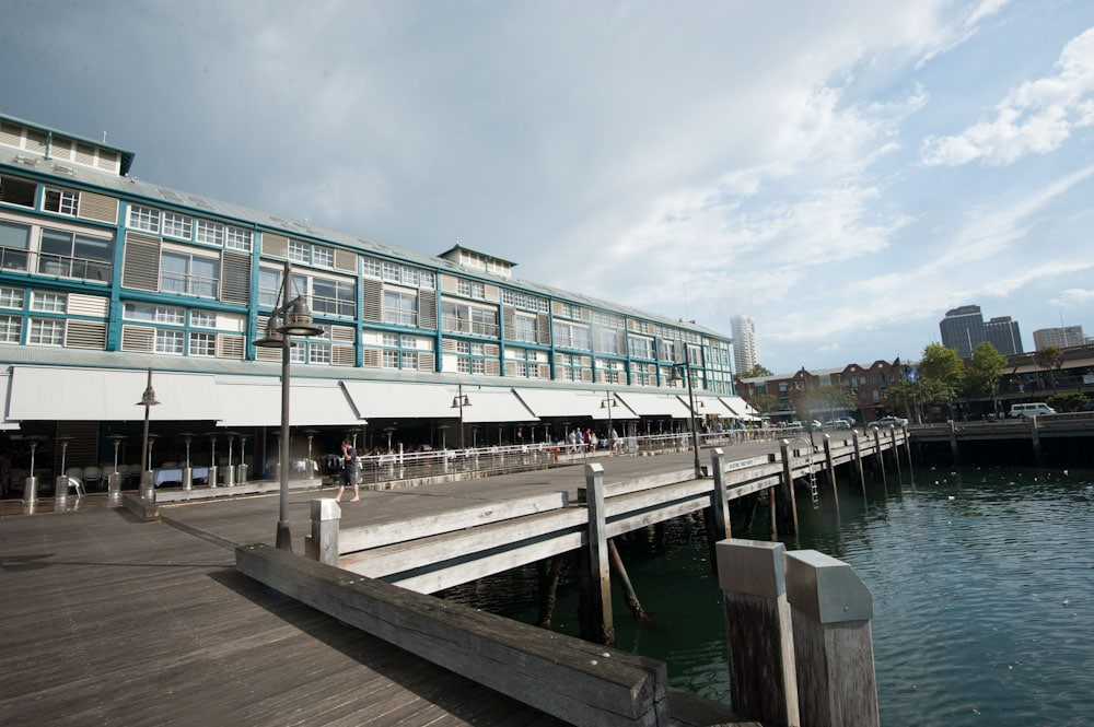 The Finger Wharf at Woollomooloo - Overlooking Sydney Harbour