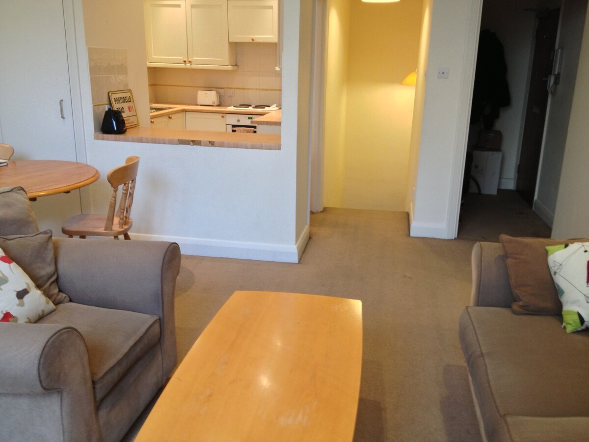 The spacious living room is very cozy and has a very comfortable sofa and a couch!