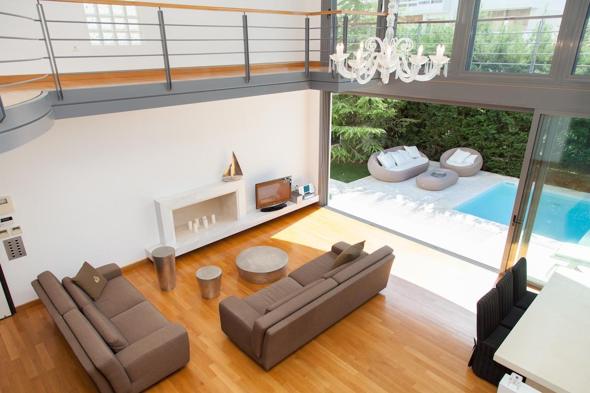 Double room, pool, internet, garden