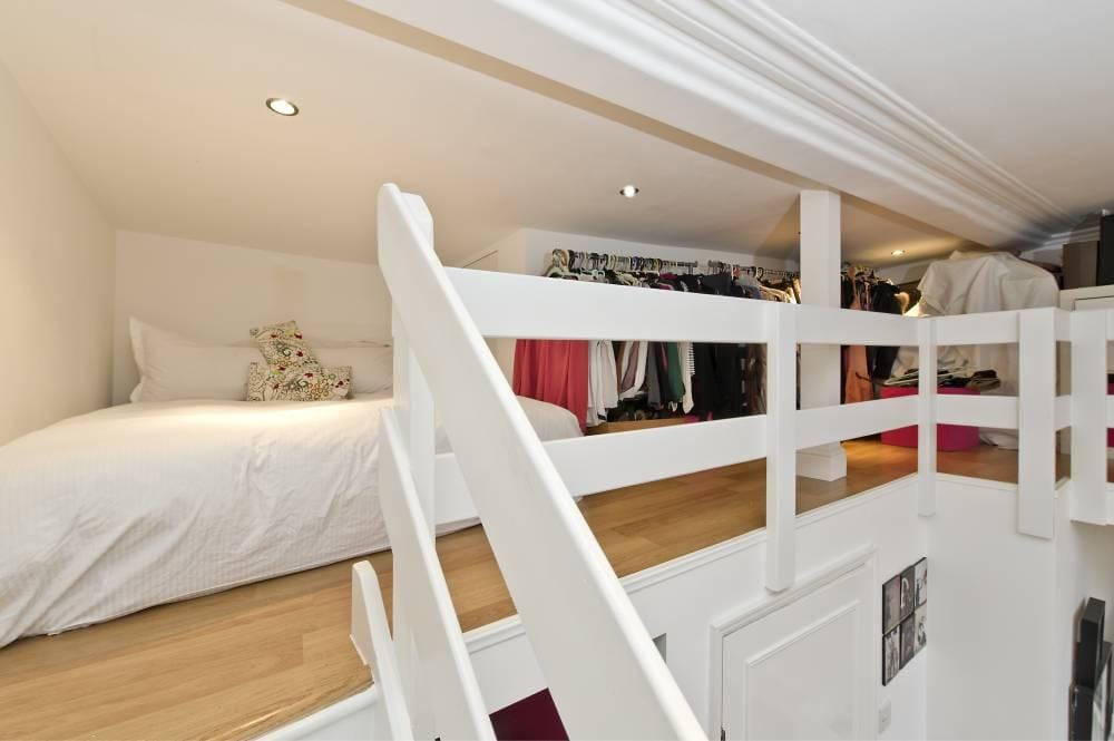 Upstairs Bed and Storage