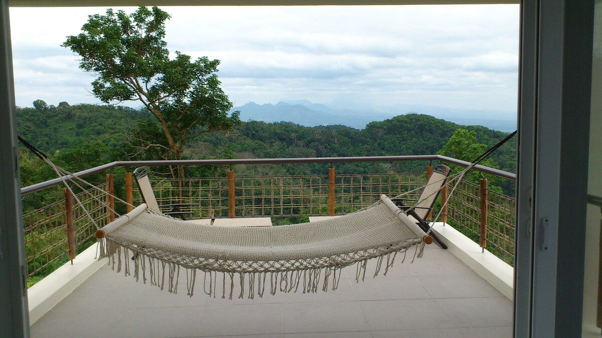 View deck on the third floor loft. Best spot in the house...hammock included!
