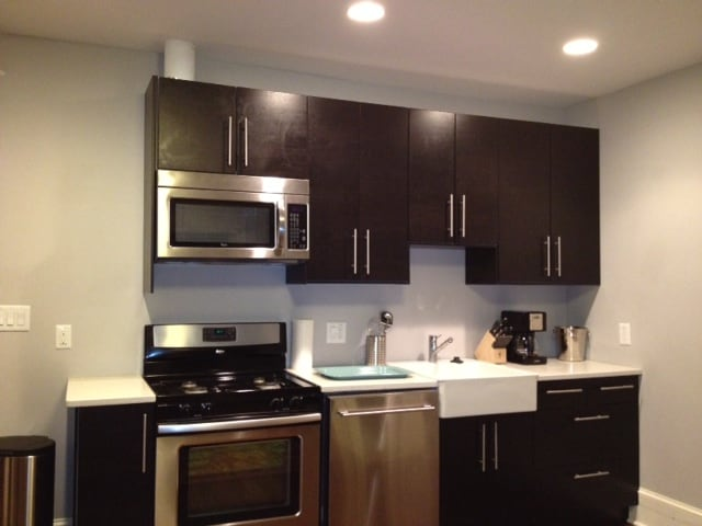 Kitchen with stainless applicances