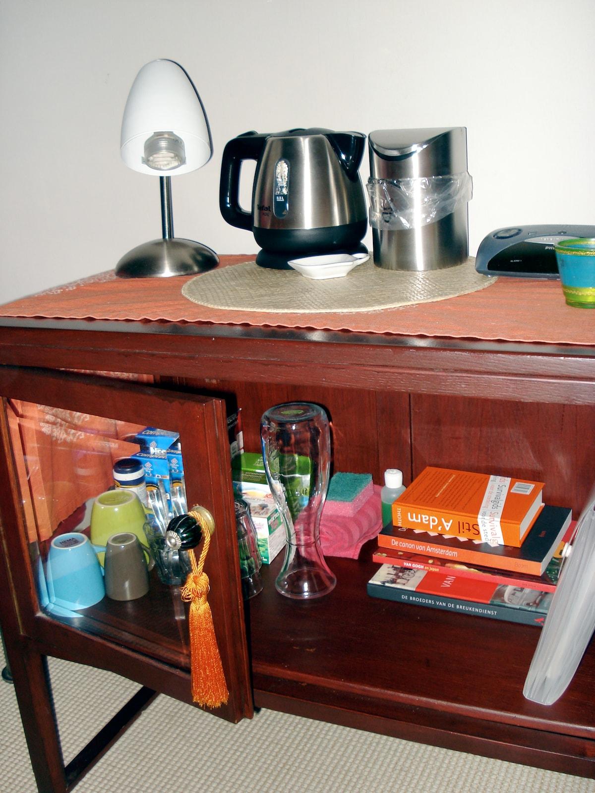 Watercooker: make your own tea or coffee (free).