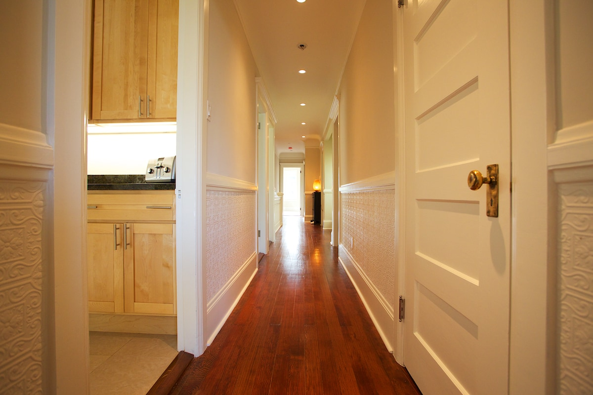 Newly remodeled with original flooring