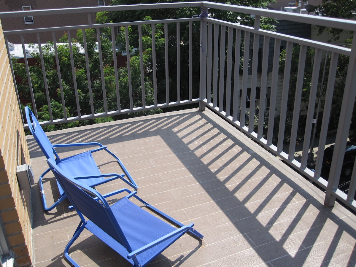 enjoy a balcony right out of your bedroom
