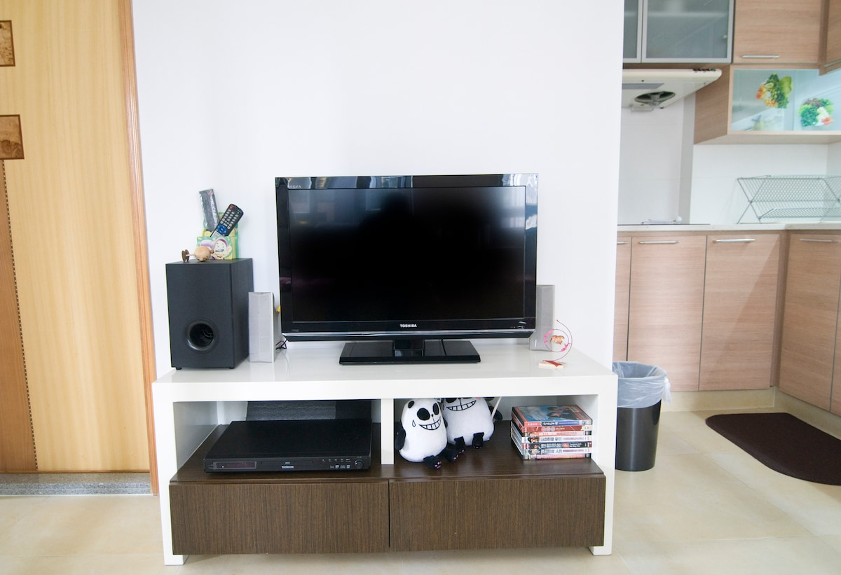 32 inches LCD TV and HI-Fi system