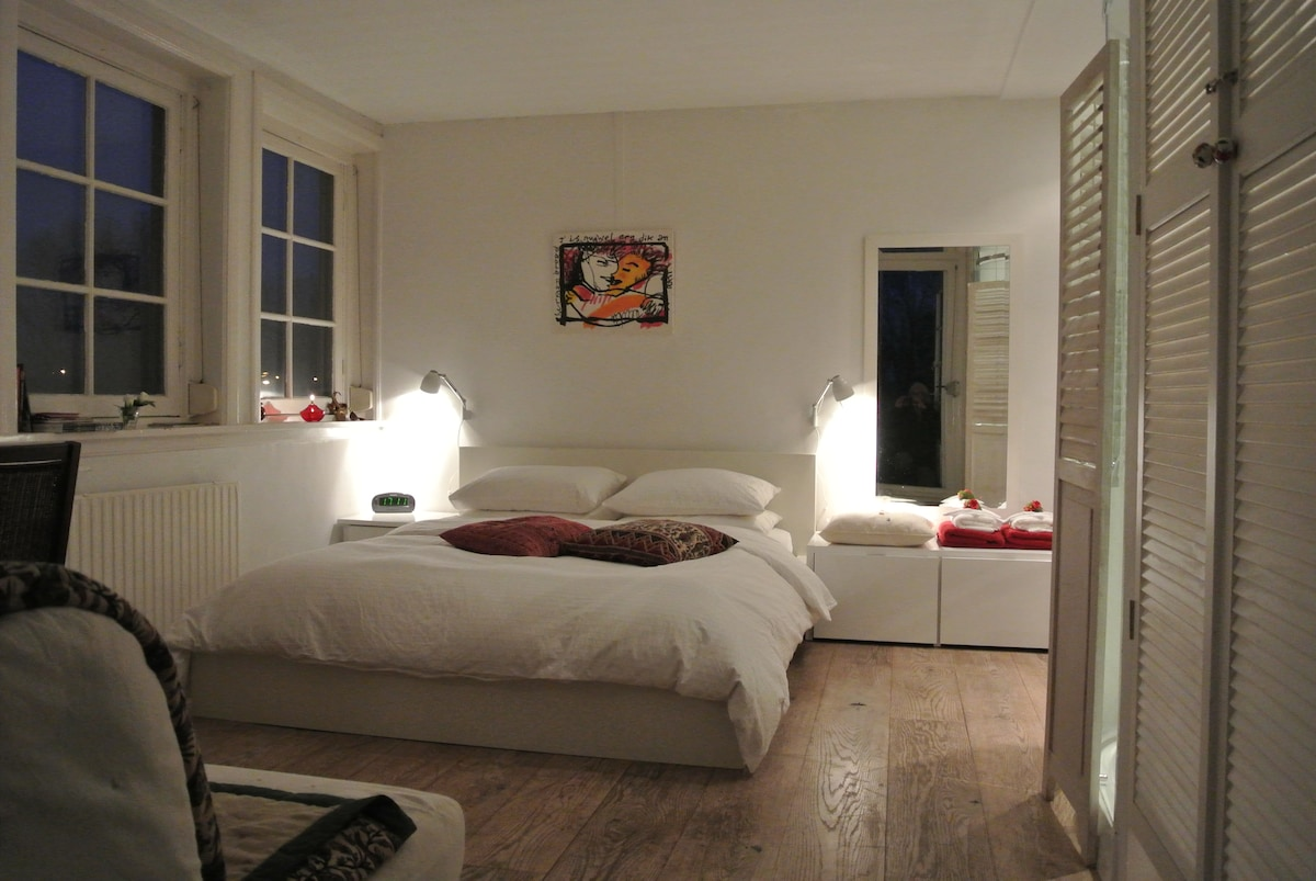Spacious room with private bathroom