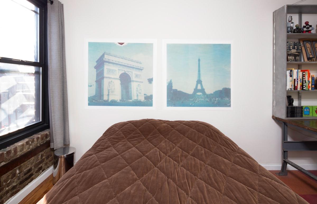 YOUR BEDROOM: Polaroid photos I took in Paris.