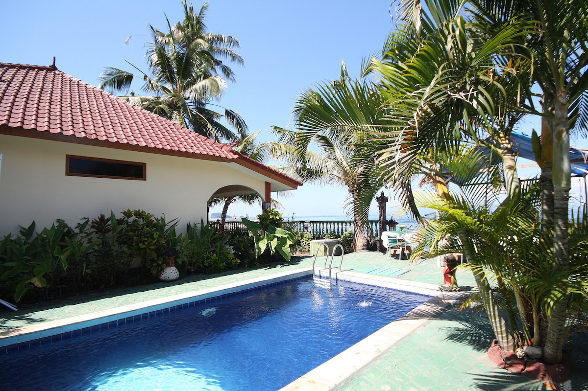 The swimming pool with seaview