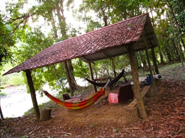 Included in rate is access to this riverside gazeebo within Buenaventura Eco-Park