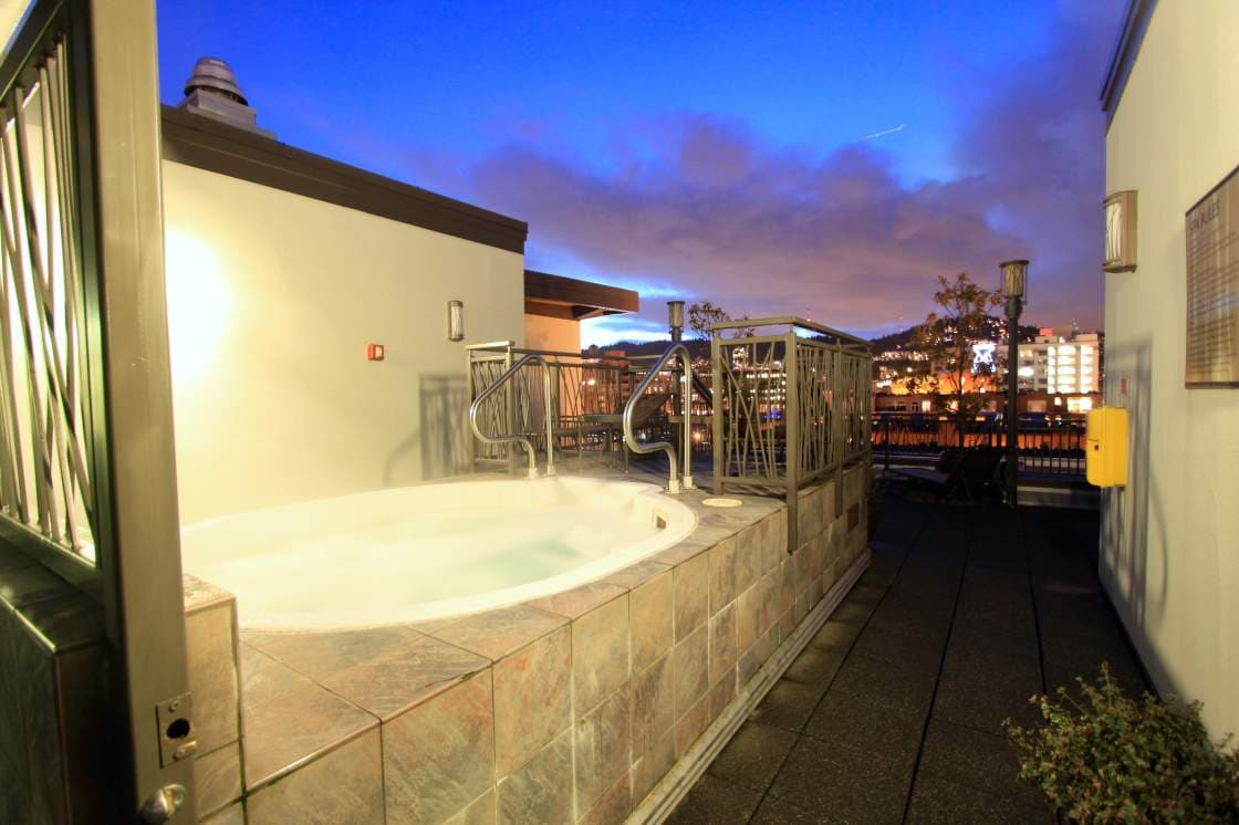 Soak in the spa...and the views