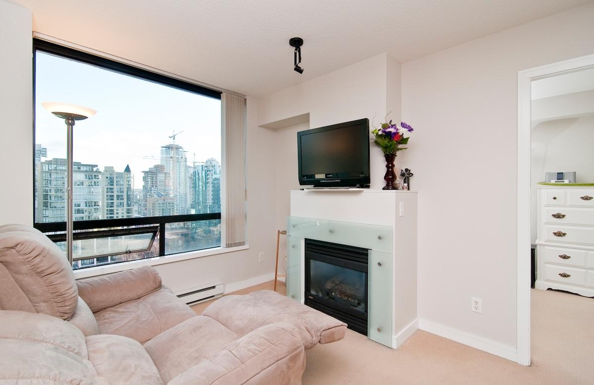 Modern one bedroom and den