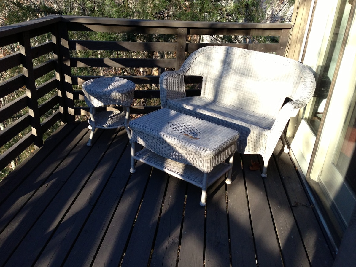 More seating on the back deck