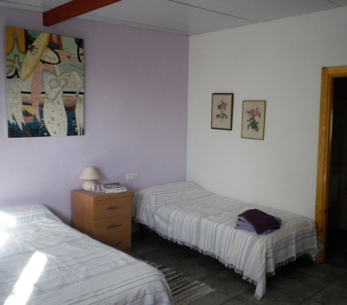 Twin bedded Lavender room.