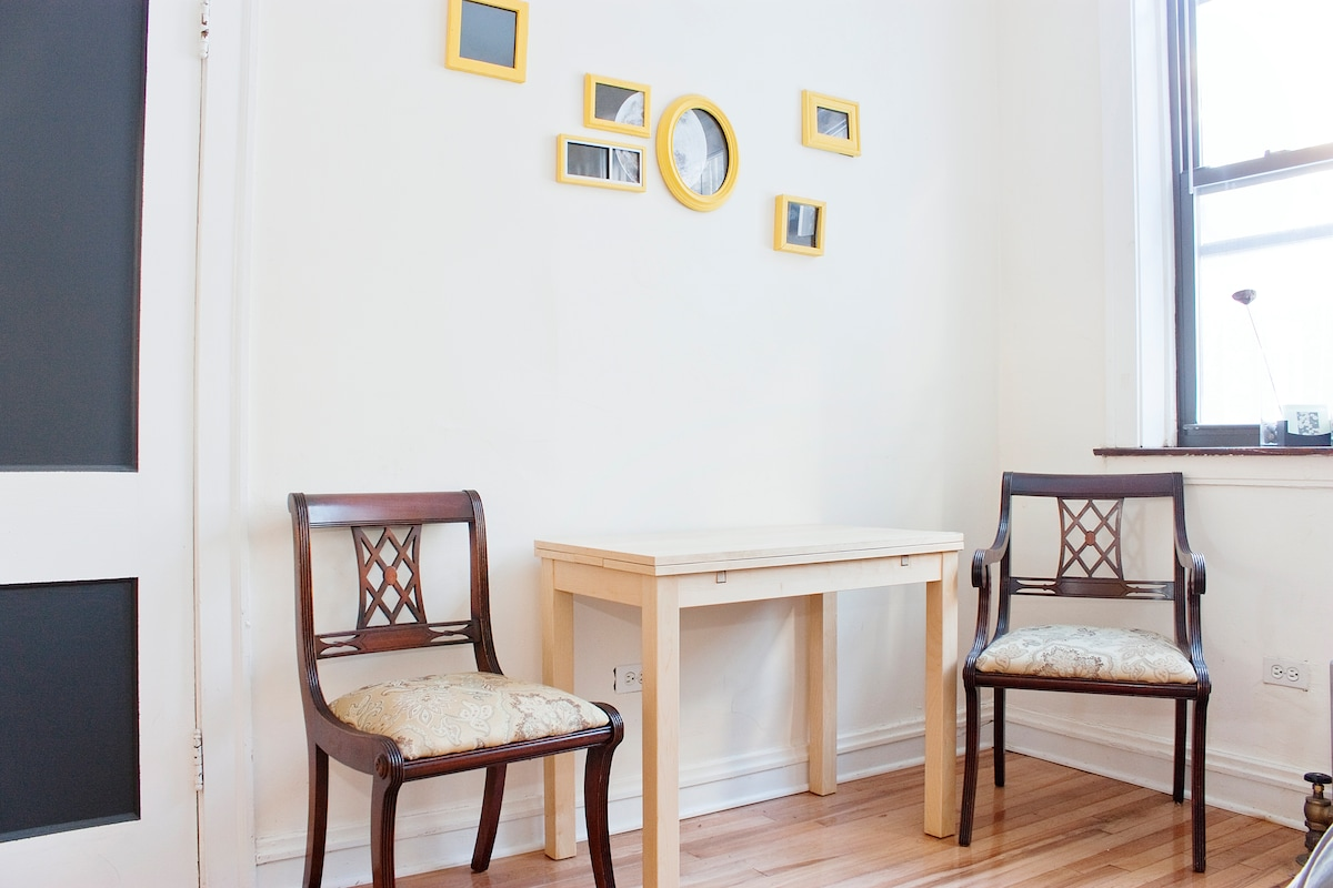 Breakfast nook! Table expands to twice its size.