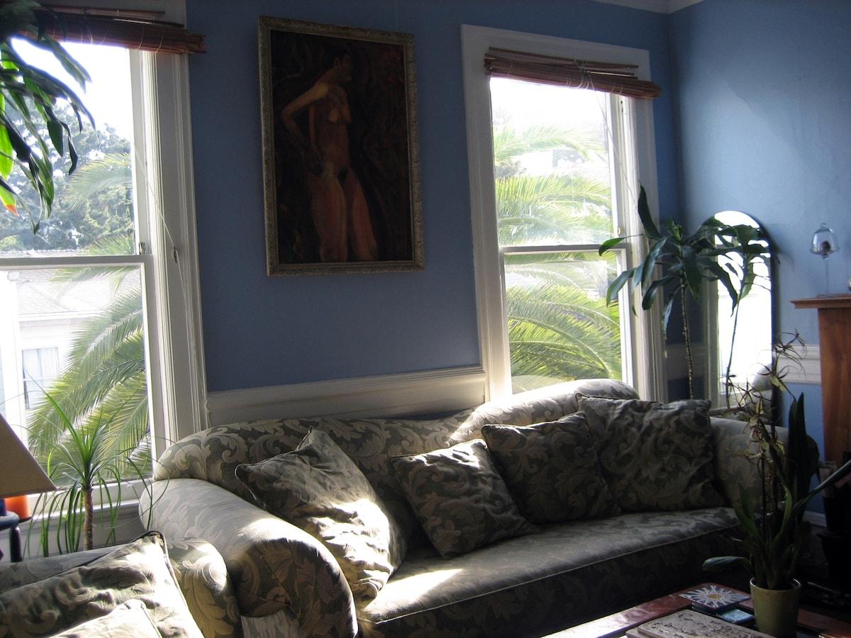 Haight/Ashbury 2-br Victorian flat