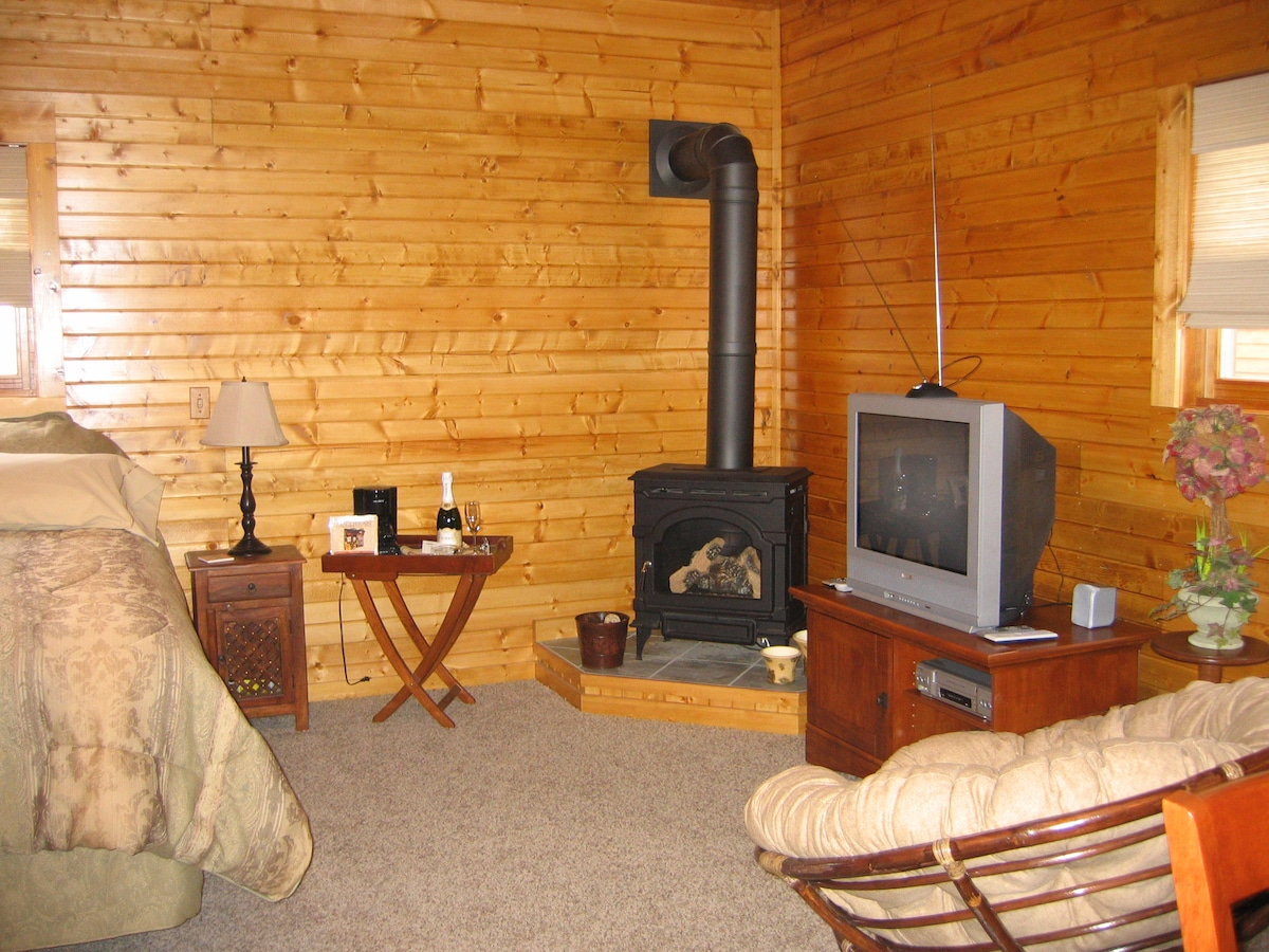 Gas Fireplace, Stereo TV/DVD/VCR