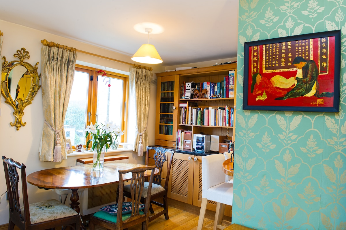 Our dining room where we'll enjoy sunny breakfasts and candlelit dinners