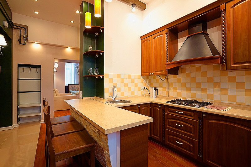 The kitchen is fully equipped - кухня полностью оборудована