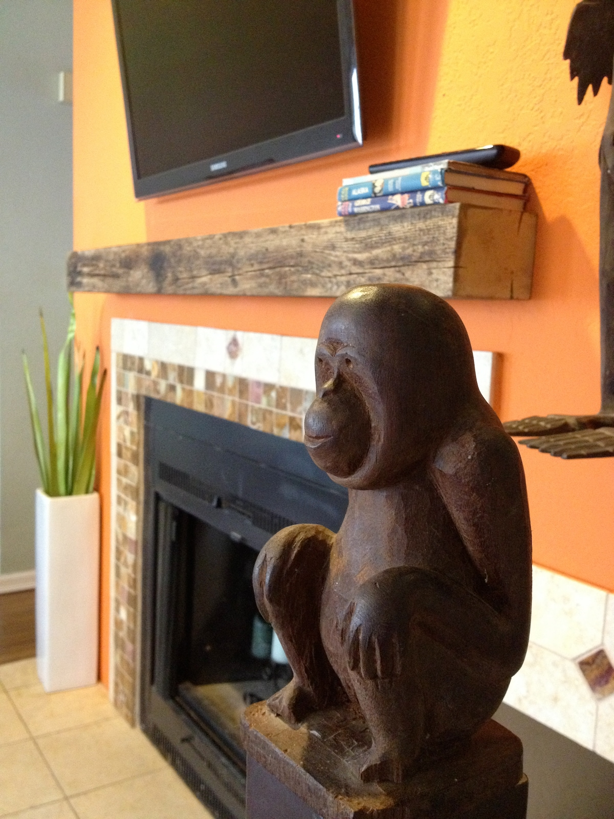 Don't forget to rub the orangutan for luck before heading upstairs!