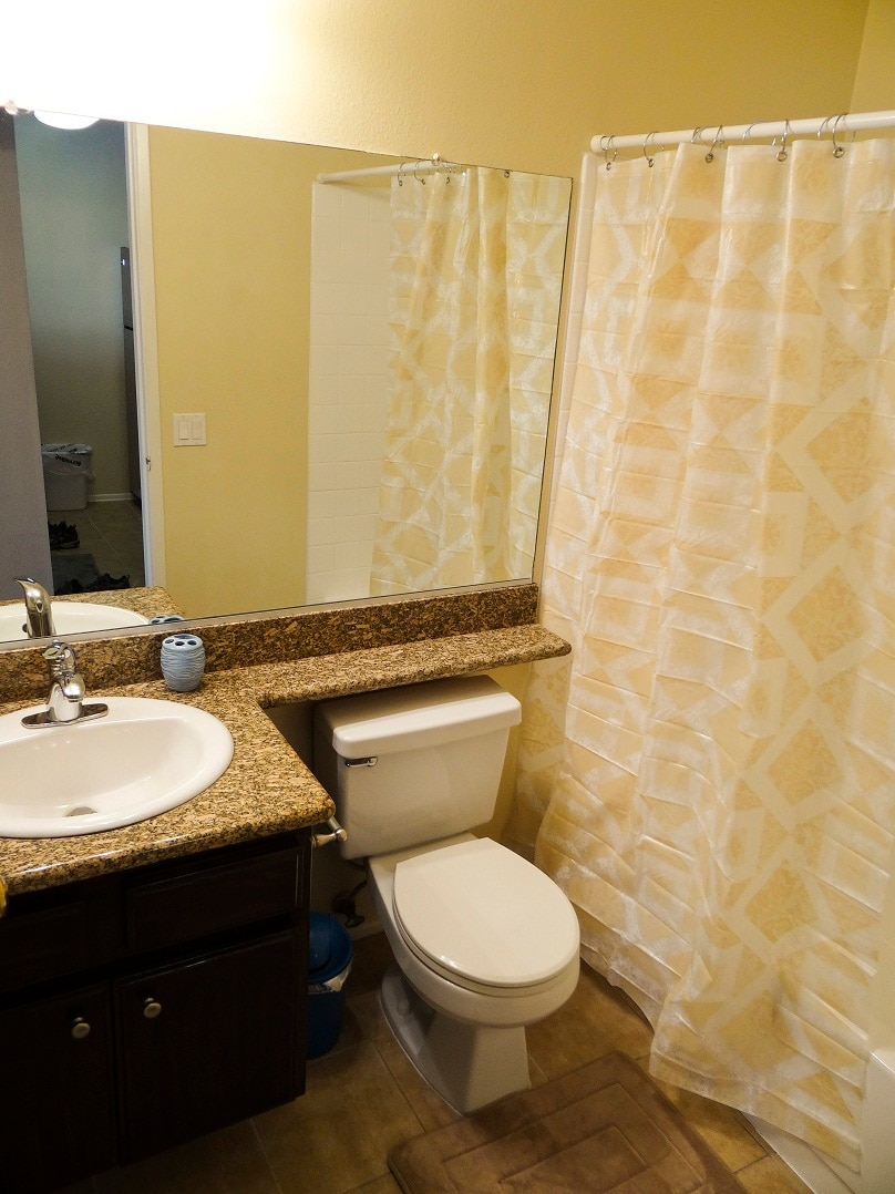Full bathroom with bathtub and shower.  Great water pressure and nice hot water!