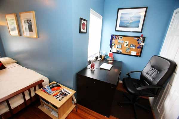 Desk and comfy chair offers plenty of space to work. (Laptop not included)