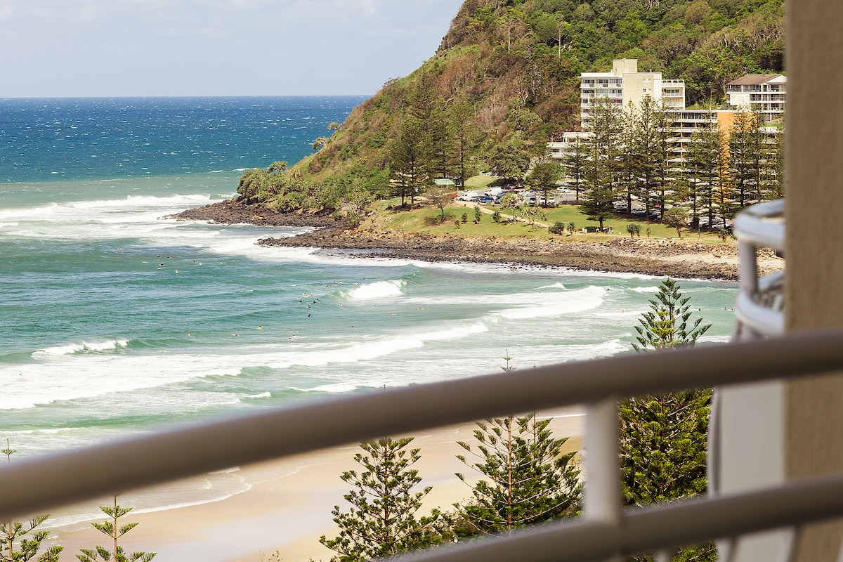 A view of Burleigh Heads from the balcony