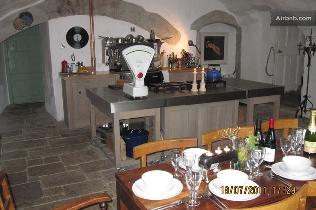 The Vaulted Kitchens, dating back to 1425, so lots of History.