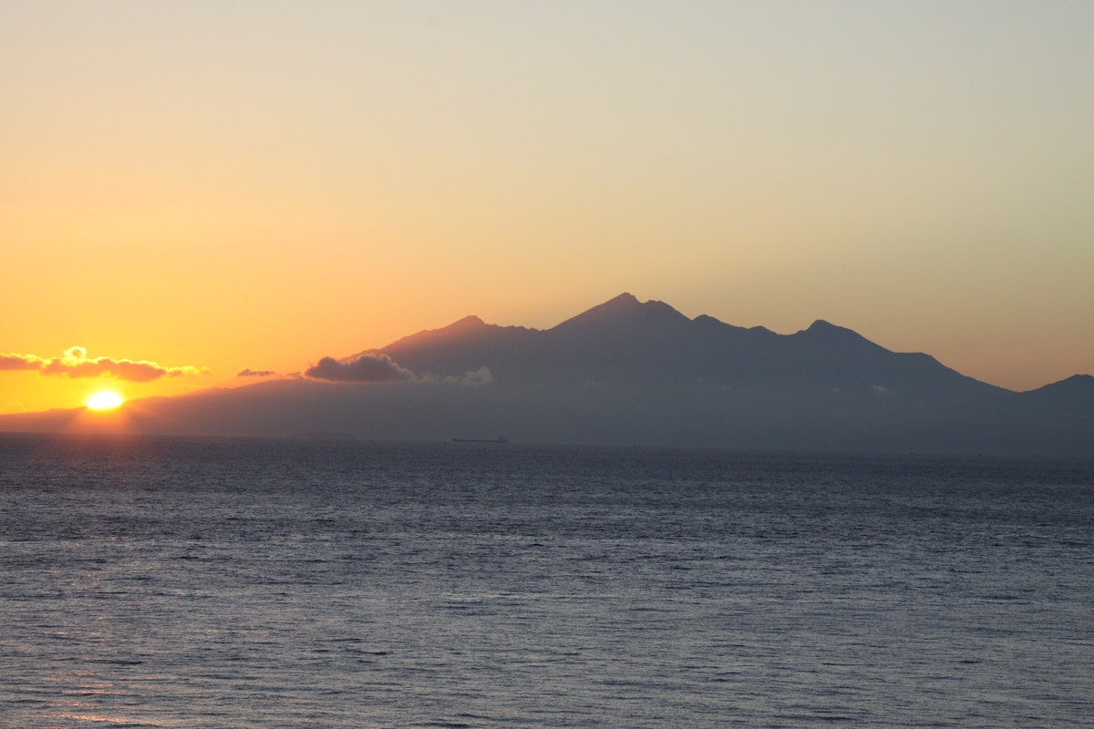 Sun rise with Lombok and Mt. Rinjani