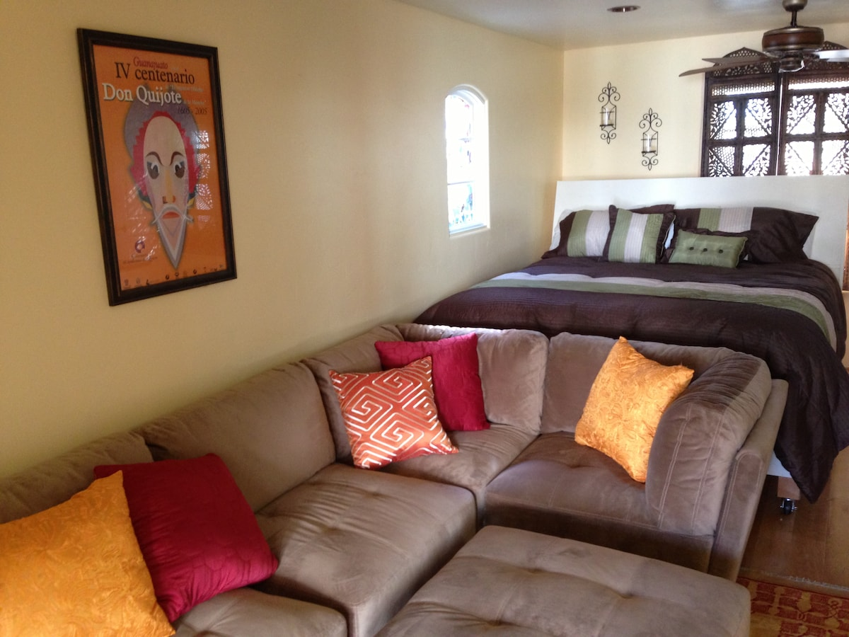 Couch & Bed-- View from door
