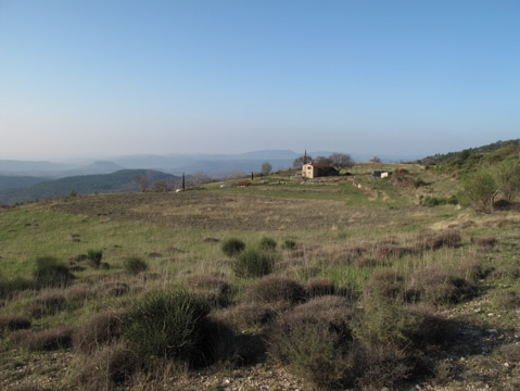 Set in 10 hectares of private land with views to the Mediteranean and Pyrenees