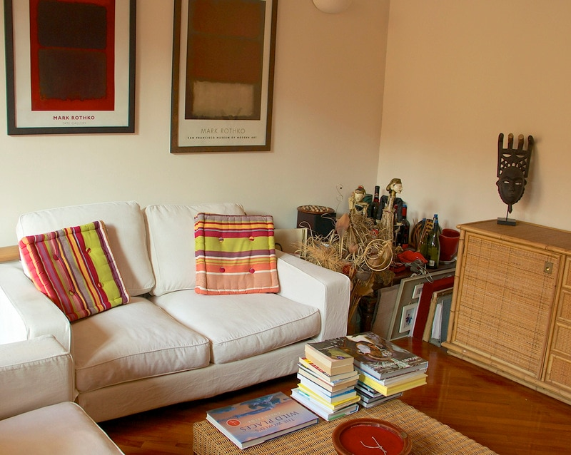 The Living Room, with objects from my travels