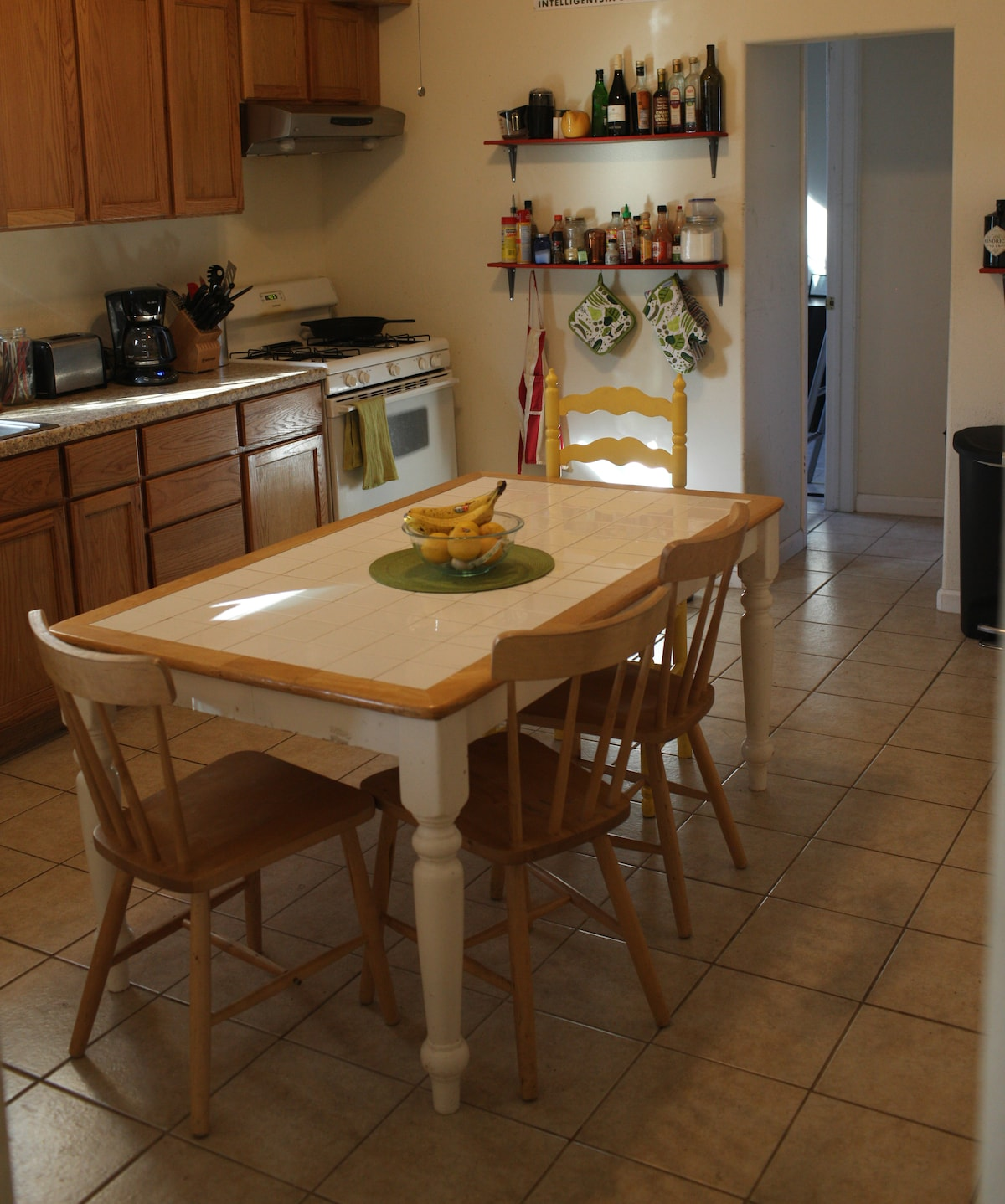 Fully stocked and spacious kitchen