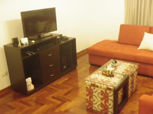 Spacious Living Room with Brand New Entertainment System