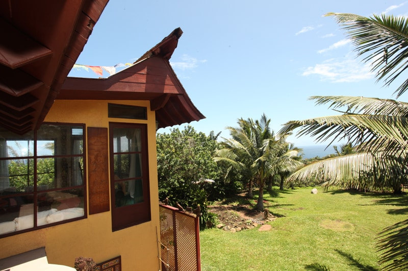 All our views are stunning. From the Hawaiian room you can see the ocean and the Haleakala mountain