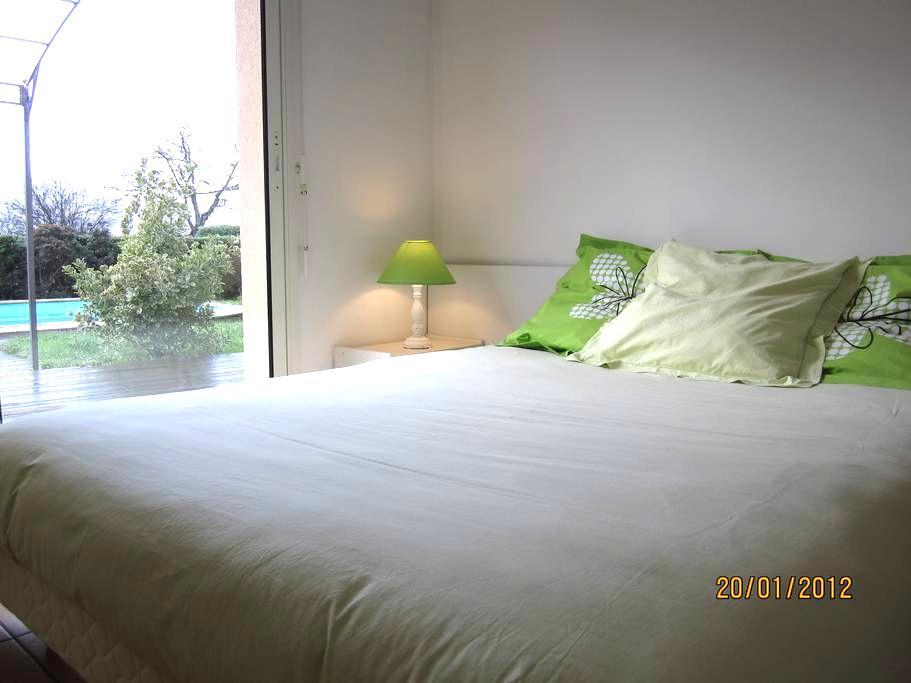 2 chambres lumineuses ouvrant sur un jardin privé - Saint-Martin-Lacaussade - Hus